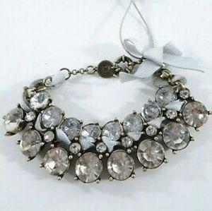 🆕️ A&F Chunky Rhinestone Ribbon Bracelet